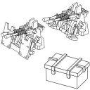1/350 ナノ ドレッドシリーズ 帝国海軍 九六式25mm 連装機銃【WZ6】 ファインモールド
