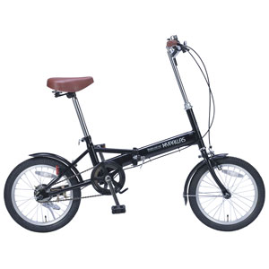 M-101【税込】 マイパラス 折りたたみ自転車 16インチ(ブラック) MYPALLAS [M101ブラツク]【返品種別B】【送料無料】【RCP】