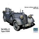 1/35 独・4輪軍用乗用車170VK・kfz.2無線車【MB3531】 【税込】 マスターボックス [バウマン MB3531 ドイツ 4リンジョウヨウシャ]【返品種別B】【RCP】