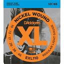 EXL110【税込】 ダダリオ エレキギター弦(Regular Light .010-.046) D'Addario XL Nickel Round Wound [EXL110DADDARIO]【返品種別A】【RCP】