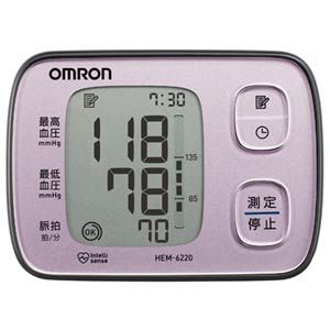 HEM-6220-PK【税込】 オムロン 自動血圧計 ピンク [HEM6220PK]【返品種別A】【送料無料】【RCP】