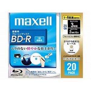 BR25VFWPB.20S【税込】 マクセル 4倍速対応BD-R 20枚パック 25GB ホワイトプリンタブル maxell [BR25VFWPB20S]【返品種別A】【RCP】