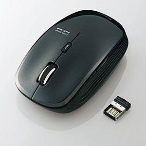 M-BL21DBBK エレコム 2.4GHzワイヤレス 5ボタンBlueLEDマウス(ブラック)  [MBL21DBBK]【返品種別A】