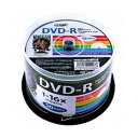 HDDR47JNP50【税込】 HI-DISC データ用 16倍速対応DVD-R 50枚パック 4.7GB ホワイトプリンタブル ハイディスク [HDDR47JNP50]【返品種別...