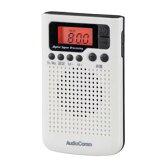 RAD-F300N-W【税込】 オーム ワイドFM/AM DSPポケットラジオ(ホワイト) AudioComm OHM [RADF300NW078156]【返品種別A】【RCP】