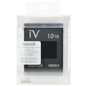 M-VDRS1T.E.BK【税込】 マクセル iVDR-S規格対応リムーバブル・ハードディスク 1.0TB(ブラック) maxell カセットハードディスク「iV(アイヴィ)」 [MVDRS1TEBK]【返品種別A】【送料無料】【RCP】