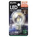 LDA1CL-G-E17-G456【税込】 ELPA LEDミニ球 S形(クリア電球色相当) elpaball mini(エルパポール ミニ) [LDA1CLG...