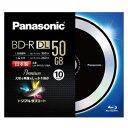 LM-BR50L10BP【税込】 パナソニック 4倍速対応BD-R DL 10枚パック 50GB デザインディスク (クールブラックII) Panasonic ...