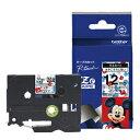 TZE-MW31【税込】 ブラザー P-Touch用・キャラクターラミネートテープ ミッキーホワイト/黒文字 12mm [TZEMW31]【返品種別A】【RCP】