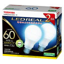 LDA7N-G/60W-2P 東芝 LED電球 一般電球形 ...