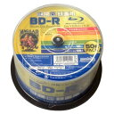 HDBDR130YP50HC【税込】 HI-DISC 4倍速対応 BD-R 50枚パック25GB ホワイトプリンタブル ハイディスク [HDBDR130YP50...