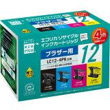 ECI-BR124P/BOX【】 エコリカ ブラザー用リサイクルインク(4色セット) LC12-4PK(LC12BK、LC12C、LC12M、LC12Y) [ECIBR124PBOX]【返品種別A】【