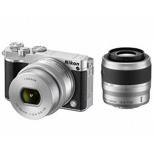 N1J5-WZ-SL【税込】 ニコン Nikon 1 J5 ダブルズームレンズキット(シルバー) [N1J5WZSL]【返品種別A】【送料無料】【RCP】
