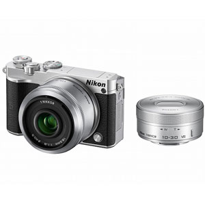 N1J5-WLK-SL【税込】 ニコン Nikon 1 J5 ダブルレンズキット(シルバー) [N1J5WLKSL]【返品種別A】【送料無料】【RCP】