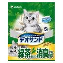 ショッピング猫砂 デオサンド 緑茶成分入り消臭する砂 5L ユニ・チャーム デオサンドリヨクチヤ5L