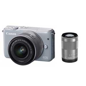 EOSM10GY-WZK【税込】 キヤノン ミラーレスカメラ「EOS M10」ダブルズームキット(グレー) Canon EOSM10 [EOSM10GYWZK]【返品種別A】【送料無料】【1201_flash】