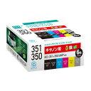 ECI-C351-6P【税込】 エコリカ キヤノン用リサイクルインク (6色パック) [ECIC3516P]【返品種別A】【RCP】