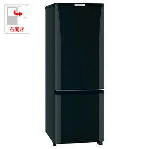 MR-P17Z-B【税込】 三菱 168L 2ドア冷蔵庫(サファイアブラック)【右開き】 MITSUBISHI [MRP17ZB]【返品種別A】【送料無料】【RCP】