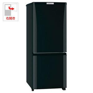 MR-P15Z-B【税込】 三菱 146L 2ドア冷蔵庫(サファイアブラック)【右開き】 MITSUBISHI [MRP15ZB]【返品種別A】【送料無料】【RCP】