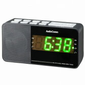 RAD-T210N【税込】 オーム ワイドFM/AM クロックラジオ(ブラック) AudioComm OHM [RADT210N077929]【返品種別A】【送料無料】【RCP】