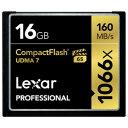 LCF16GCRBJPR1066【税込】 レキサー コンパクトフラッシュ 16GB Lexar Professional 1066x CompactFlash ...