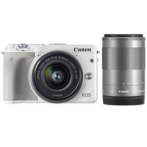 EOSM3WH-WZOOMKIT2【税込】 キヤノン ミラーレスカメラ「EOS M3」ダブルズームキット2(ホワイト) Canon EOS M3 [EOSM3WHWZOOMKIT2]【返品種別A】【送料無料】【RCP】