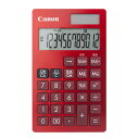 KS-12T-RD キヤノン 手帳サイズ電卓 12桁(赤) Canon カラーバリエーション電卓 手帳シリーズ [KS12TRD]【返品種別A】