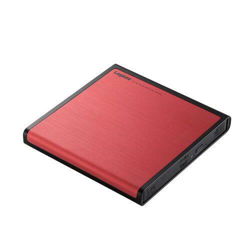 LDR-PMJ8U2LRD ロジテック USB2.0 ポータブルDVDドライブ 書込ソフト付き(レッド) Logitec LDR-PMJ8U2Lシリーズ