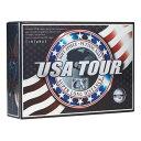 USA TOUR WH USA ツアーディスタンス +α ゴルフボール 1ダース 12球入り(ホワイト) USA TOUR DISTANCE +α 12P WHITE