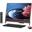 PC-DA370EAR【税込】 NEC 23.8型デスクトップパソコンLAVIE Desk All-in-one DA370/EAシリーズクランベリーレッド [PCDA370EAR]【返品種別A】【送料無料】【RCP】