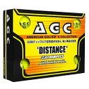 AGBA-4714 YL アメリカン・ゴルファーズ・コレクション ディスタンス ゴルフボール 1ダース 12個入り(ネオンイエロー) AGC American Golfer's Collection Distance