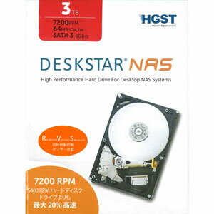 0S03663【税込】 HGST 3.5インチ 内蔵ハードディスク 3.0TB DESKSTAR NAS(NAS向けモデル) [0S03663]【返品種別B】【送料無料】【RCP】