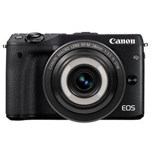 EOSM3BK-CMLK【税込】 キヤノン ミラーレスカメラ「EOS M3」クリエイティブマクロ レンズキット(ブラック) Canon EOS M3 [EOSM3BKCMLK]【返品種別A】【送料無料】【RCP】