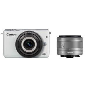 EOSM10WH-CMWLK【税込】 キヤノン ミラーレスカメラ「EOS M10」クリエイティブマクロ ダブルレンズキット(ホワイト) Canon EOS M10 [EOSM10WHCMWLK]【返品種別A】【送料無料】【1201_flash】