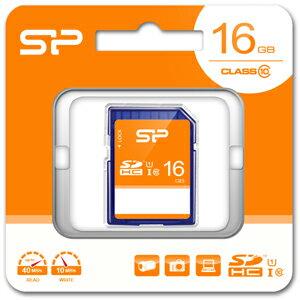 SP-SDHC16GB10 シリコンパワー SDHCメモリカード 16GB Class10 UHS-I
