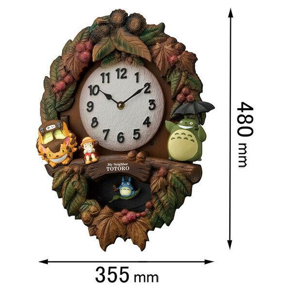 トトロM429【税込】 リズム時計 掛時計 となりのトトロ 4MJ429M06 [トトロM429]【返品種別A】【送料無料】【RCP】