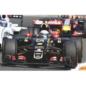 1/43 ロータス F1 チーム ロータス E23 ハイブリッド R.グロージャン ベルギーGP 2015 3位入賞【417150108】 ミニチャンプス [417150108 ロータス F1 R.グロージャン 2015]【返品種別B】