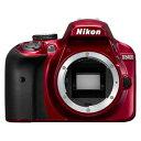 D3400RD ニコン デジタル一眼レフカメラ「D3400」ボディ(レッド) [D3400RD]【返品種別A】【送料無料】