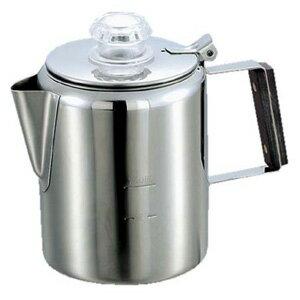 キャプテンスタッグ コーヒー ポット 18-8ステンレス製パーコレーター 3カップ