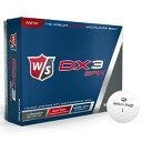 WILSON DX3 12コ【税込】 ウイルソン ウイルソンスタッフDX3 SPIN ゴルフボール 1ダース 12個 WILSON DX3 SPIN GOLF BALLS [WILSONDX312コ]【返品種別A】【RCP】