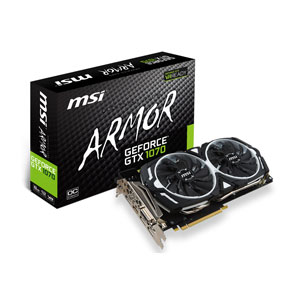 GTX 1070 ARMOR 8G OC【税込】 MSI PCI-Express 3.0 x16対応 グラフィックスボードMSI GeForce GTX 1070 ARMOR 8G OC  [GTX1070ARMOR8GOC]【返品種別B】【送料無料】【1201_flash】