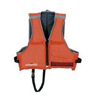 MC-2551 キャプテンスタッグ シーサイドフローティングベスト2 子供用(レッド・推奨身長:130〜150cm) ライフジャケットの画像