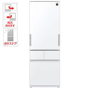 SJ-GT42C-W シャープ 415L 4ドア冷蔵庫(ピュアホワイト) SHARP プラズマクラスター冷蔵庫 どっちでもドア [SJGT42CW]【返品種別A】【送料無料】(標準設置無料)