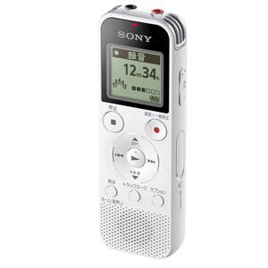 ICD-PX470FWC ソニー リニアPCM対応ICレコーダー4GB内蔵+外部マイクロSDカードスロット搭載(ホワイト) SONY