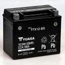 YTX12-BS(タイワンユアサ)【税込】 台湾ユアサ バイク用バッテリー【電解液注入・充電済】【他商品との同時購入不可】 [YTX12BSタイワンユアサ]【返品種別A】【送料無料】【RCP】