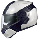 KAZAMI-WMBK-L【税込】 OGKカブト システムヘルメット(ホワイトメタリック/ブラック [L]) KAZAMI [OKAZAMIWMBKL]【返品種...