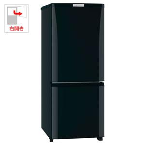 MR-P15A-B【税込】 三菱 146L 2ドア冷蔵庫(サファイアブラック)【右開き】 MITSUBISHI [MRP15AB]【返品種別A】【送料無料】【RCP】
