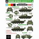1/35 チェコスロバキア 1968(プラハの春) #2 T-62BRDM-2BTR-152 デカールセット【BD35207】 BISON DECALS