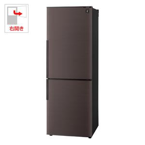 SJ-PD27C-T シャープ 271L 2ドア冷蔵庫(ブラウン系)【右開き】 SHARP プラズマクラスター冷蔵庫 [SJPD27CT]【返品種別A】【送料無料】(標準設置無料)