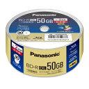 LM-BRS50P30 パナソニック 2倍速対応BD-R DL 30枚パック50GB ホワイトプリンタブル LMBRS50P30 【返品種別A】